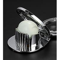 Xinyuwin   Tagliauova in lega di zinco 3 in 1 con filo di acciaio inox per tagliare uova sode  fragole  ecc