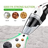 from Holife Holife 2nd Gen Handheld Cordless Vacuum Cleaner, 14.8V 100W 6K Pa Strong Cyclonic Suction Portable Rechargeable Hand Held Vac, Wet Dry Vacuum with Lithium & Quick Charge Tech for Home Model HLHM036ABUK