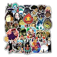 Stickers for Miyazaki Hayao Anime My Neighbor Totoro No Face Man Spirited Away 50 Packs for Water Bottles Laptop Hydroflask Refrigerator Computer Phone Mac Pad Luggage Case Moto Boys Girls Anime Fan