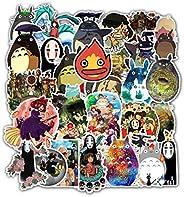 Stickers for Miyazaki Hayao Anime My Neighbor Totoro No Face Man Spirited Away 50 Packs for Water Bottles Lapt