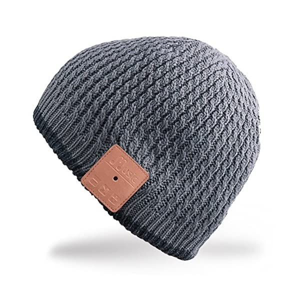 Rotibox-Winter-Fashional-Bluetooth-Beanie-Hat-Double-Knit-Music-Cap-with-Wireless-Headphones-Headsets-Earphone-Removal-Speakers-Mic-Hands-Free-for-Running-Skiing-Skating-HikingChristmas-Gifts-Gray