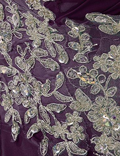 HUINI Damen Modern Kleid Grape