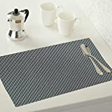 #8: Kuber Industries™ 6 Piece Dining Table Placemats - Grey