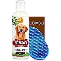 Boltz Anti Tick & Flea Dog Shampoo with Neem,Lemongrass & Tulsi-200 ml with Bath Brush Free | Made in India