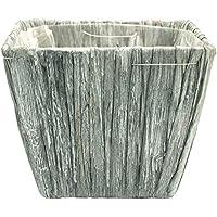 Macetero–Olla de jacinto de agua gris rectangular–Cesta decorativa (27cm x 14cm x 12cm Planta cesta cesta plantar Estable Kübel