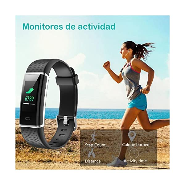 Willful Pulsera Actividad Impermeable IP68,Color Screen con 14 Modos de Deporte,Pulsera Inteligente con Pulsómetro… 5