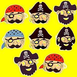 Máscaras de pirata en espuma, 8 ud.