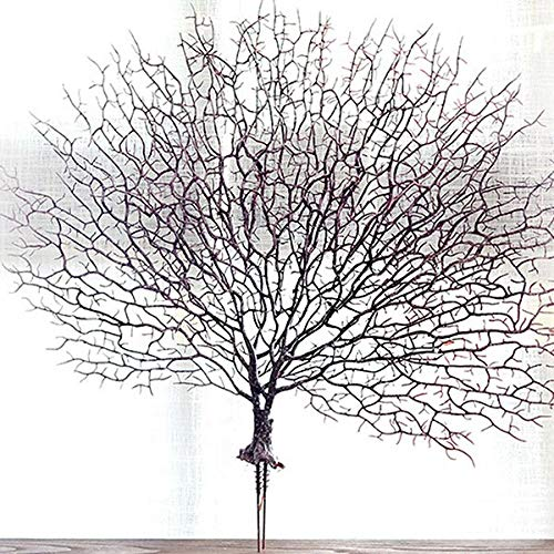 lowers - Artificial Coral Branch Fake Tree Branches Dried Plants White Plant Home Wedding Decoration Tb - Flowers Artificial Dried ()