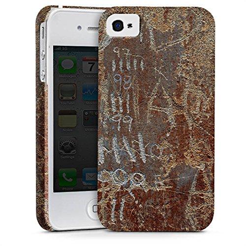 Apple iPhone X Silikon Hülle Case Schutzhülle Rost Look Kratzer Premium Case glänzend