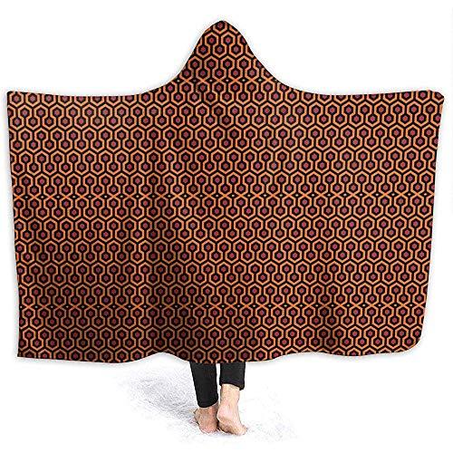 Blanket Hoodie The Shining Overlook Hotel Decke mit Kapuze Soft Cloak Schal Wrap für Erwachsene und Kinder, 153X204Cm. -
