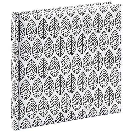"""Hama Gästebuch mit Lesezeichen """"La Fleur"""" (Buch mit 176 leeren Weißen Seiten, für Fotos, Notizen, Skizzen, Etc.) Blanko Gäste-Album Weiß"""