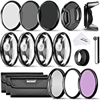 Neewer 52MM Filter Accessory Kit for NIKON D3300 D3200 D3100 D3000 DSLR Camera: UV,CPL,FLD Filters+Macro Close-up Filters(+1,+2,+4,+10)+Neutral Density Filters(ND2,ND4,ND8)+Lens Hood+Lens Cap