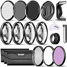 Neewer 52Mm Completo Filtro Accessorio Kit Per Nikon D3300 D3200 D3100 D3000 D5300 D5200 D5100 D5000 D7000 D7100 Dslr Fotocamera, Kit Include Filtri Kit (Uv, Cpl, Fld)+Macro Closeup Filtri Set(+1, +2, +4, +10) + Filtri A Densità Neutrale Set (Nd2, Nd4, Nd8) + 3In1 Peighevole Parasole + Parasole A Forma Di Tulipano +Copriobiettivo + Cinturino Per Copriobiettivo +Borsetta Portabile Per Filtri+ Panno Di Pulizia In Microfibra