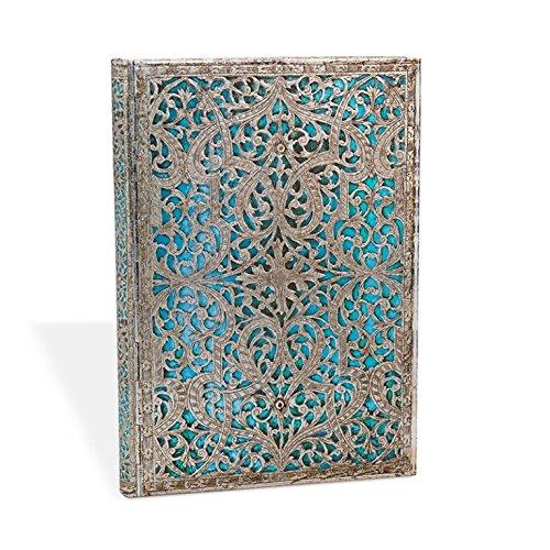 Silberfiligran Kollektion Maya Blau - Adressbuch Midi - Paperblanks