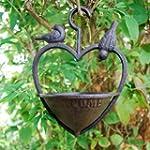 Cast Iron Hanging Heart Bird Feeder F...