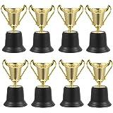 Amosfun 8 stuks gouden trofee Award Pokal winnaar metaal kunststof Pokal cadeau voor sport wedstrijden voetbal kampioen kinde