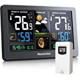 Newentor Weather Station with Outdoor Sensor Wireless, Digital Home Weather Stations Forecast, Temperature Indoor…