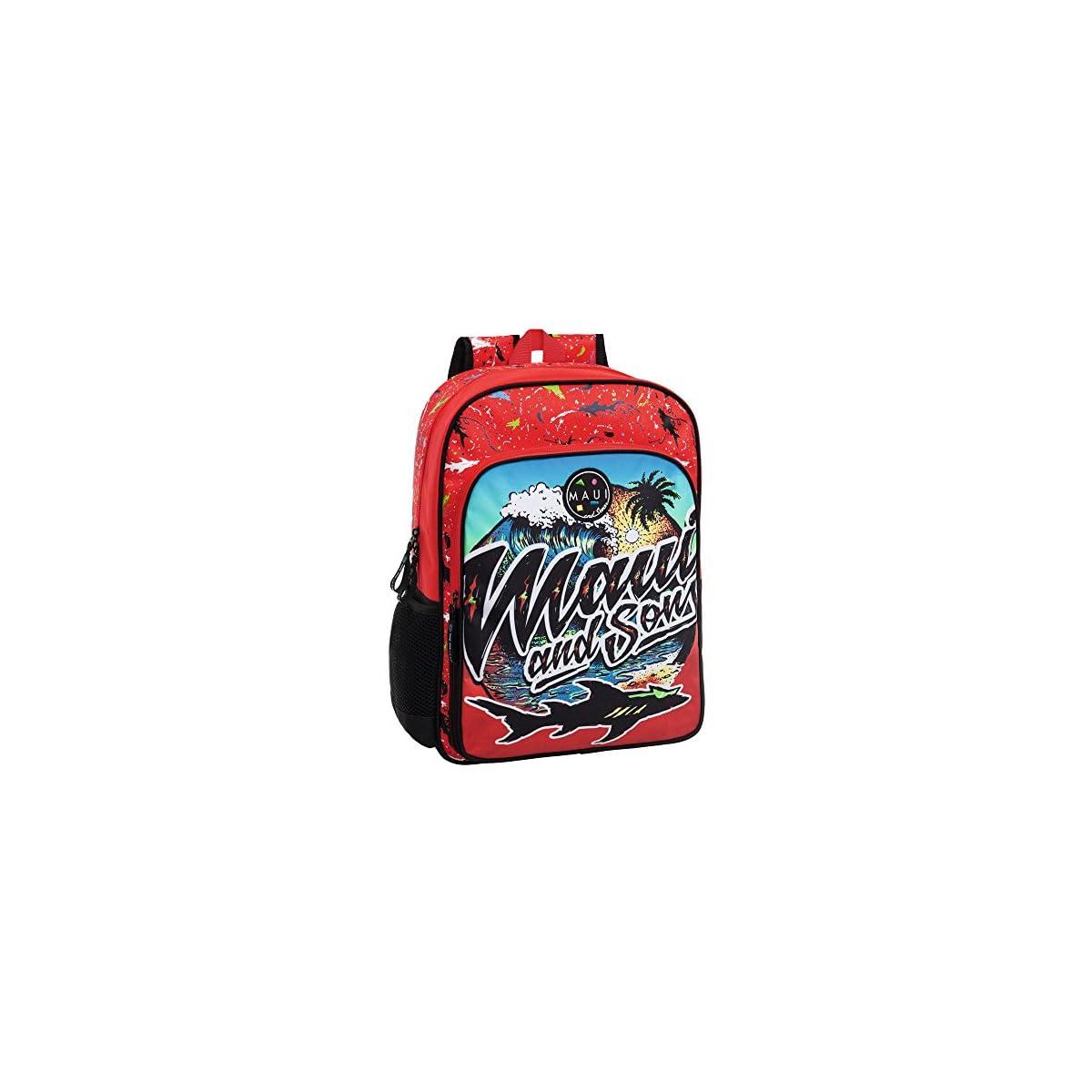 61AeEuIPvIL. SS1200  - Maui 45523A1 Beach Mochila Escolar, 15.6 litros, Color Rojo