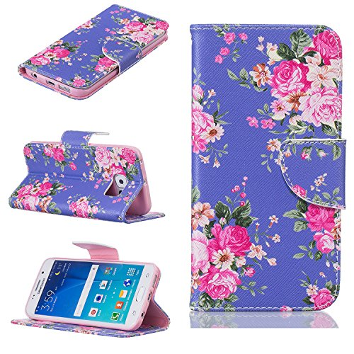 Cozy Hut® Samsung Galaxy S6 Edge Housse, Ultra-mince Etui En Cuir PU Flip Cassette Intérieur Pour Cartes Pour Samsung Galaxy S6 Edge New Mode Fine Folio Wallet/Portefeuille + Stand Support + Card Slot Medicago