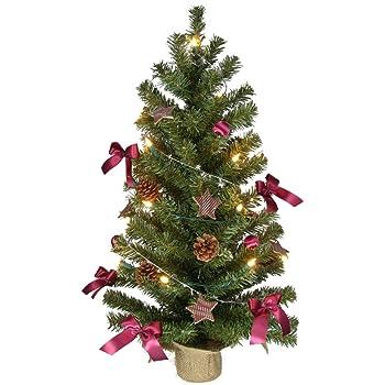 weihnachtsbaum 75cm komplett geschm ckt mit lichterkette kugeln sternen etc. Black Bedroom Furniture Sets. Home Design Ideas