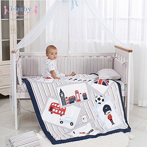 I-Baby Juego cama cuna 9 piezas recién nacido, bebé