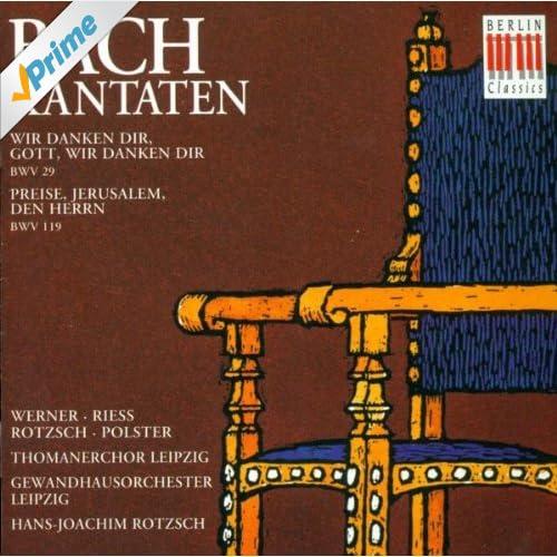 Wir danken dir, Gott, wir danken dir, BWV 29: Sinfonia