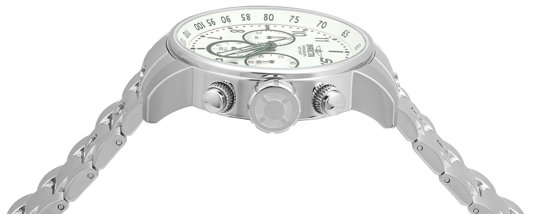 Invicta S1Rally–Reloj de cuarzo para hombre con cronógrafo y plateado