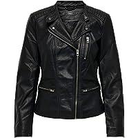 Only Onlfreya Faux Leather Biker Otw Noos Giacca Donna