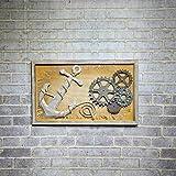 Swdg Fluch der Karibik amerikanische Holz Anker ruder Gemälde Bettwäsche Bügeleisen Wand dreidimensionale Bar, b - 90 * 3,5 * 55 cm