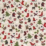 Textiles français Weihnachtsstoff   Weihnachtszeit Stoff
