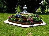 Pflanzenpyramide Corten Edelrost Kräuterspirale Hochbeet Blumenpyramide