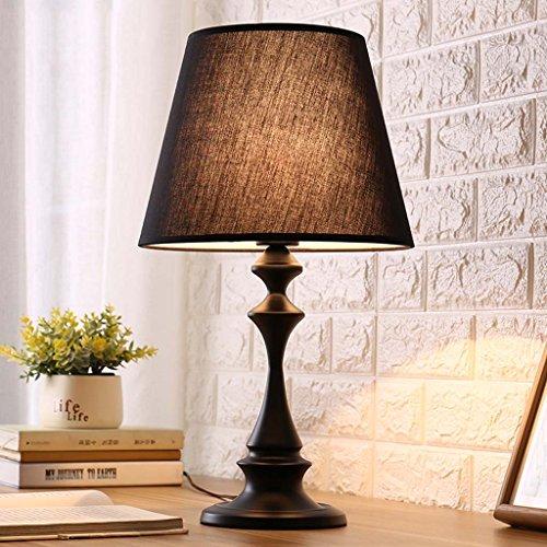 ZfgG Einfache moderne warme Lampenschlafzimmer-Nachttischlampe, die kreative warme justierbare geführte Tischlampe des warmen Lichtes einzieht (Farbe : A) (Justierbares Halogen-licht)