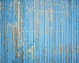 Wand Schurken wr50544Holzplatten–Wand einkleistern Tapete Wandbild–300cm x 240cm–Blau