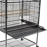 IDMarket - Volière XXL cage à oiseaux sur roulettes pour canaris et perruches