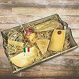 Italienisches Käseplatte 'Probierpaket Überraschungsauswahl - PETITE' 6 Sorten Käse = 1200g - Ideales Geschenk - Geschenkset - Präsent (Weihnachten Geburtstag Valentinstag Muttertag Vatertag Jubiläum Firma Firmen Hochzeit Heirat Ostern Party- Grußkarte GRATIS