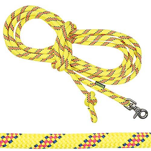 Schecker Hunde-Schleppleine 5 m Neongelb aus Extrem haltbarem, widerstandsfähigem Original Bergsteigerseil
