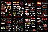 shineko Metallica ACDC und viel mehr.119x Metal Bands Logo in verschiedenen Genre Aufkleber/Sticker, acht Bögen Set!!