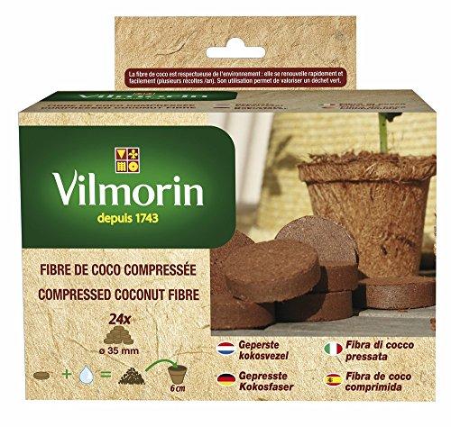 vilmorin-3990620-kit-24-compresse-compressa-coco-fibra