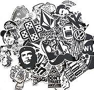 Mengo Buy 60PCS Random Music Film Vinyl Skateboard Guitar Travel Case Sticker Door Laptop Luggage Car Bike Bic