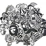 Tesan Vinyl Aufkleber alle verschiedenen Skateboard Snowboard Gepäck Laptop Aufkleber MacBook iPad Aufkleber Bike Fahrrad Auto Vintage Graffiti Pop-Art-Stil Vinyl Aufkleber Pack,60 Stück