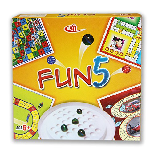 Kids Mandi Fun 5 (Ludo, Snake and ladder ,Racing,Cricket,Brainvita)  available at amazon for Rs.159