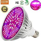MILYN 100W LED Pflanzenlampe Vollspektrum Pflanzenlicht E27 150 Leds Pflanzenleuchte LED Grow Light, Achstumslampe ähnlich dem Sonnenlichts für Garten Gewächshaus Zimmerpflanzen Sämling Gemüse, Blumen