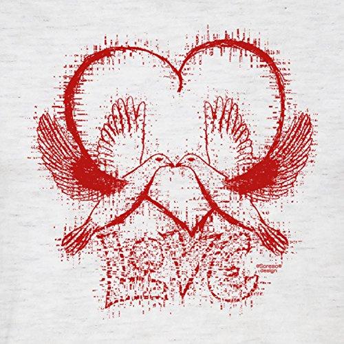 Herren kurzarm Fun T-Shirt :-: Geschenk-Idee-Valentinstag Motiv: Love :-: für Mama Papa für Sie und Ihn :-: Farbe: grau Grau