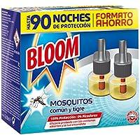 Doble recambio  Bloom Electrico Líquido contra mosquitos común y tigre