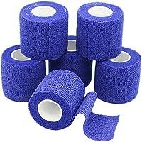 YuMai Selbsthaftende Bandage, 5cm x 6 Rollen, für Arm, Hand, Fuß, Knie, Dunkelblau preisvergleich bei billige-tabletten.eu