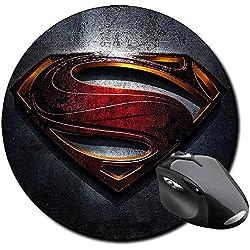 El Hombre De Acero Man Of Steel Superman A Alfombrilla Redonda Round Mousepad PC