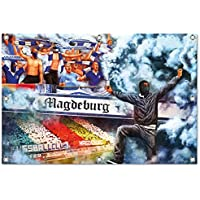 Ultras magdeburgCollage Bild auf PVC Plane / PVC Banner inkl Ösen, Maße: 120x80 cm