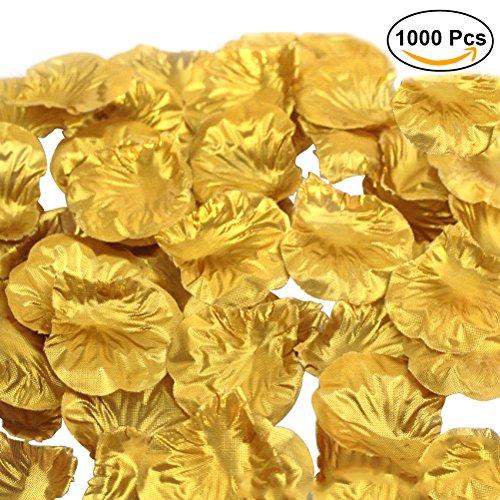 Winomo petali di rosa d'oro in tessuto per la decorazione matrimoio (1000pcs)