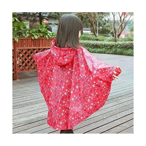 Niños Ponchos lluvia Outwear abrigo impermeable ropa de deportes al aire libre ropa Rainwear 2