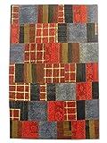 Pak Persian Rugs Handgeknüpfter Flicken Teppich, Mehrfarbig, Wolle, Medium, 164 X 252 cm